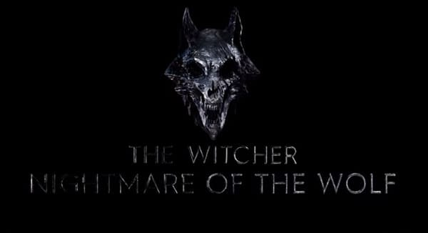 The Witcher released the official logo for the 2021 anime film. (Image: Netflix screencap)