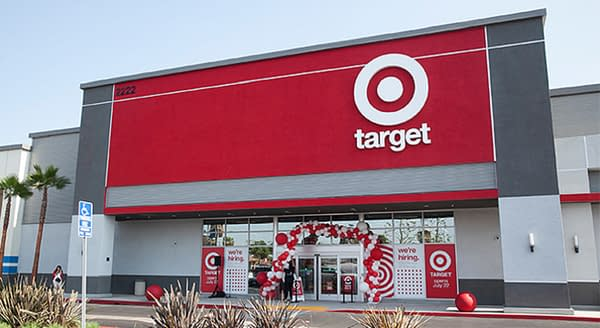 """A Target store, known for its """"bullseye"""" logo and red-and-white color scheme. Source: Target Corporation"""