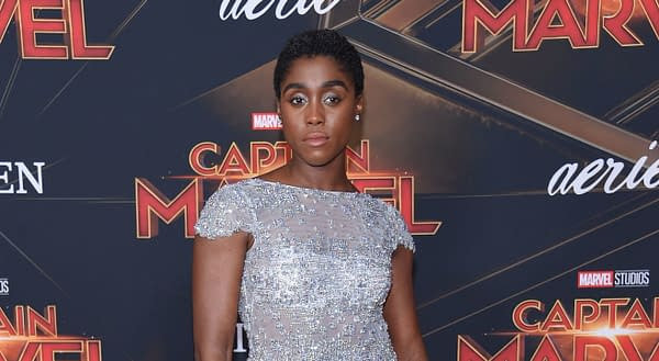Lashana Lynch arrives for the 'Captain Marvel' World Premiere on March 04, 2019 in Hollywood, CA. Editorial credit: DFree / Shutterstock.com