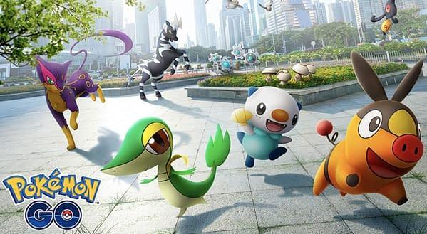 Unova Celebration promo image for Pokémon GO. Credit: Niantic