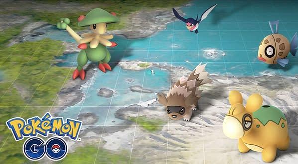 Hoenn graphic in Pokémon GO. Credit: Niantic