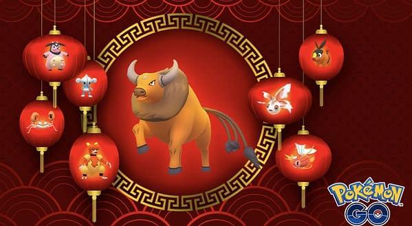 Lunar New Year event promo in Pokémon GO. Credit: Niantic