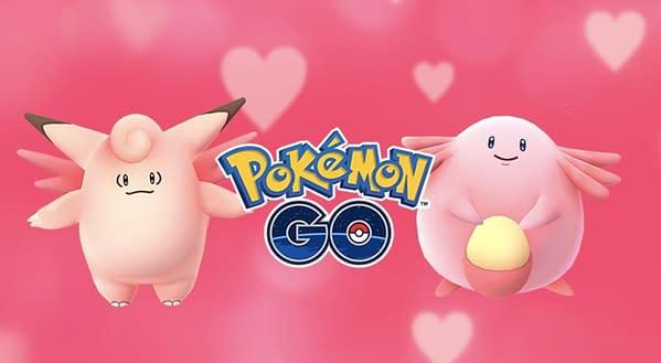 Valentinsdag salgsfremmende film på Pokemon GO.  Kreditt: Niantic