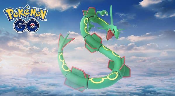 Rayquaza in Pokémon GO. Credit: Niantic