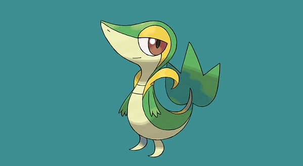 Snivy official artwork. Credit: Pokémon Company International