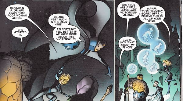 Can The FF Read Logos When They Are Spoken Aloud? (Fantastic Four #6 Spoilers)