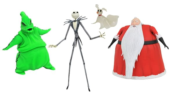 SDCC 2020 THE NIGHTMARE BEFORE CHRISTMAS LIGHTED ACTION FIGURE BOX SET