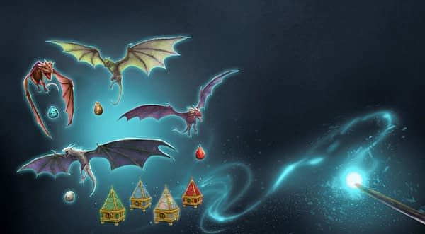 Dragonologist's Delight graphic in Harry Potter: Wizards Unite. Credit: Niantic