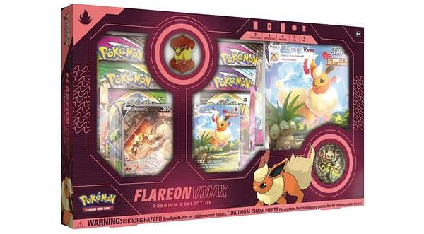Flareon VMAX Premium Collection. Credit: Pokémon TCG.