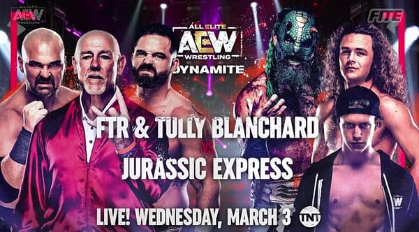 Tully Blanchard will step back in the ring to team with FTR against Jurassic Express on AEW Dynamite on March 3rd.