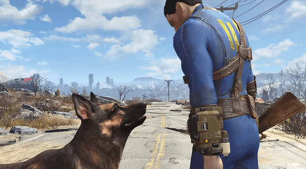 Fallout-4-Dogmeat-and-Vault-Dweller