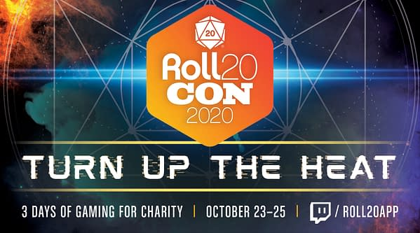 Roll20Con will take place on October 23rd-25th, 2020, courtesy of Roll20.