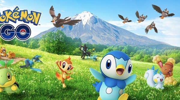 Sinnoh Celebration promo in Pokémon GO. Credit: Niantic