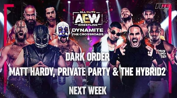 The Dark Order will look for revenge on Matt Hardy, Private Party, and The Hybrid2 for the honor of Hangman Page.