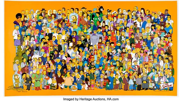 The Simpsons Character Poster illustrated by creator Matt Groening. Credit: Heritage Auctions