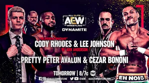 Chode Rhodes and Lee Johnson team up to fact Pretty Peter Avalon and Cezar Bonini on Dynamite this week