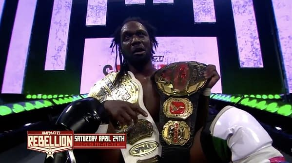 Rich Swann is the new unified Impact Champion after defeating Moose at Impact Sacrifice.