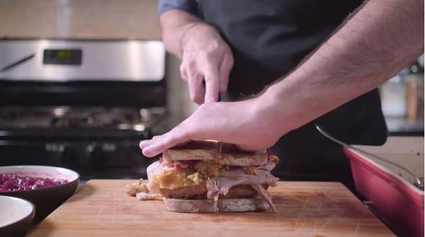 friends monica thanksgiving sandwich