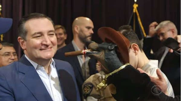 Check Out Triumph the Insult Comic Dog's Bipartisan Beto O'Rourke, Ted Cruz Takedown (VIDEO)