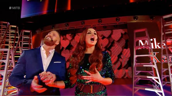 Maria Kanellis and Mike Bennett at WWE Money in the Bank