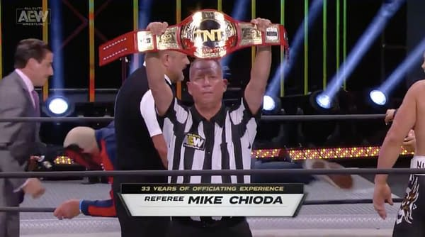 Former WWE ref Mike Chioda made a surprise debut on AEW Dynamite.