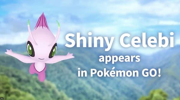 Shiny Celebi in Pokémon GO. Credit: Niantic