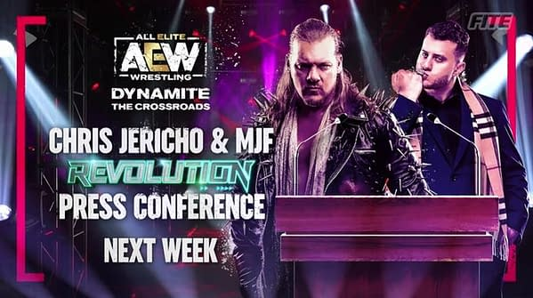 Chris Jericho and MJF will hold a press conference with the wrestling press on Dynamite next week? Oh please let us get an invite to that!