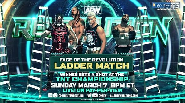 Lance Archer joins Penta El Zero M, Scorpio Sky, and Cody Rhodes in the Face of the Revolution Ladder Match, with the winner getting a shot at the TNT Championship held by Darby Allin.