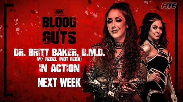 Dr. Britt Baker D.M.D. will be in action on AEW Dynamite next week. Baker has risen through the ranks to become the number one contender for Hikaru Shida's AEW Women's Championship.