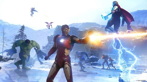 A look at the primary team of Avengers hard at work, courtesy of Square Enix.