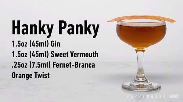 Your next cocktail recipe from the fine folks at Perry Mason (Image: HBO)