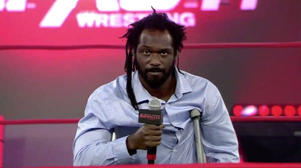 Rich Swann cuts a promo to close out Impact Wrestling on 8/4/2020