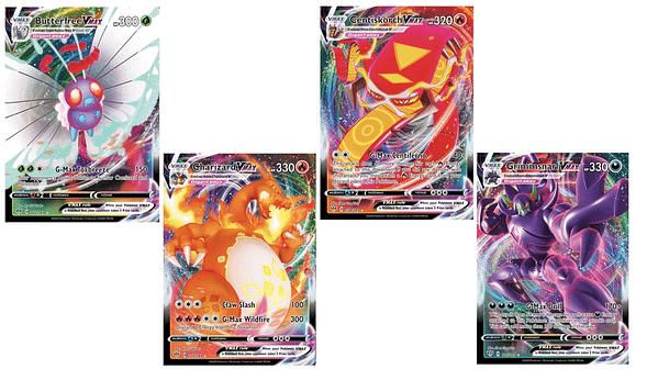 The Pokémon VMAX Cards of Darkness Ablaze. Credit: Pokémon TCG