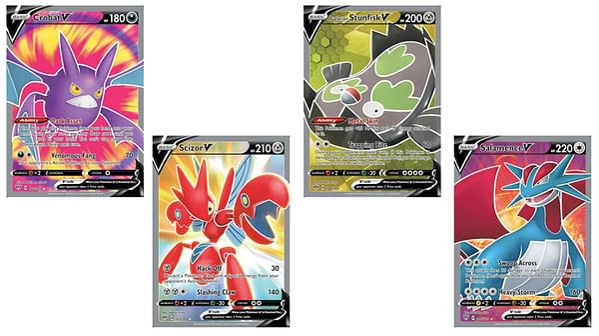The Full Art Cards of Darkness Ablaze. Credit: Pokémon TCG