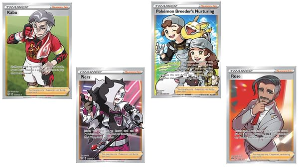 The Full Art Trainer Cards of Darkness Ablaze. Credit: Pokémon TCG