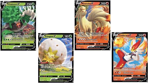 The Pokémon V Cards of Rebel Clash. Credit: Pokémon TCG
