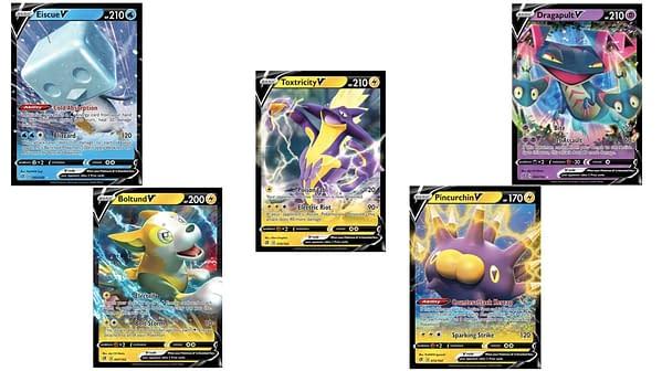 Pokémon V Cards of Rebel Clash. Credit: Pokémon TCG