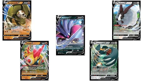 Pokémon V Cards of Rebel Clash. Credit: Pokémon TCG