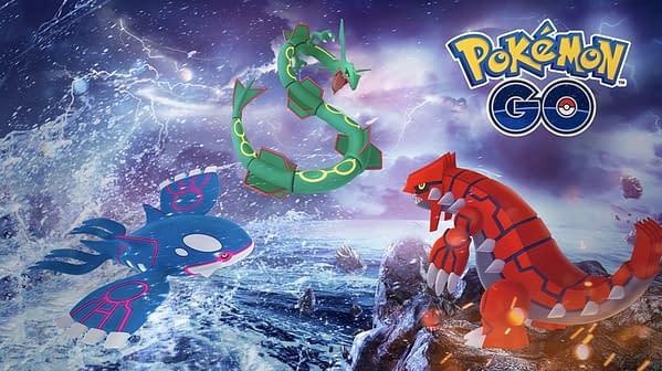 Kyogre & Groudon in Pokémon GO. Credit: Niantic