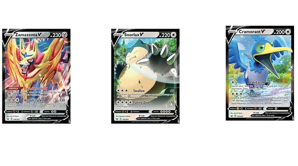 The Pokémon V Cards of Sword & Shield. Credit: Pokémon TCG