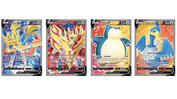 The Full Art Pokémon Cards of Sword & Shield. Credit: Pokémon TCG
