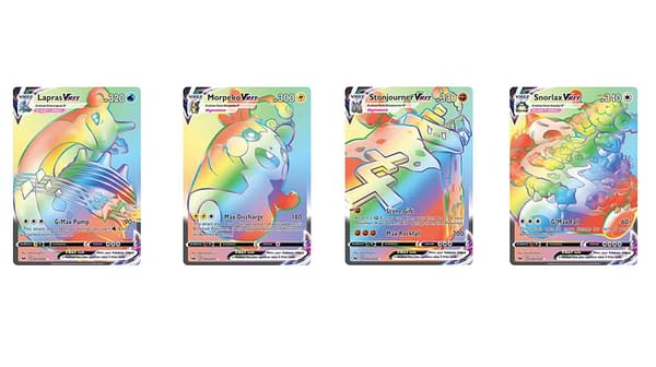 The Rainbow Rare Cards of Sword & Shield. Credit: Pokémon TCG