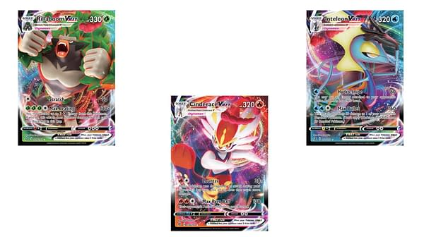 The Pokémon VMAX Cards of Rebel Clash. Credit: Pokémon TCG