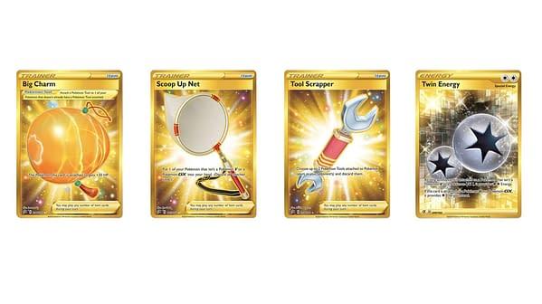 Secret Rare Gold Pokémon Cards of Rebel Clash. Credit: Pokémon TCG