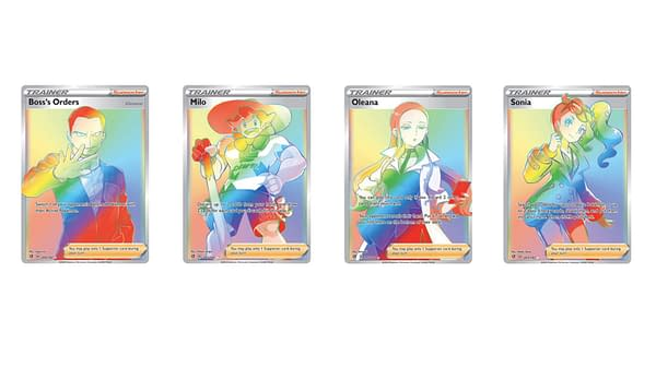 The Rainbow Rare Pokémon Cards of Rebel Clash. Credit: Pokémon TCG