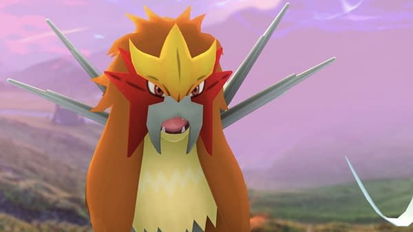 Entei in Pokémon GO. Credit: Niantic