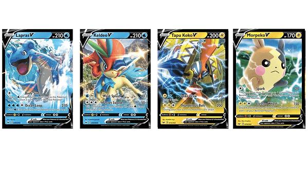 The Pokémon V Cards of Sword & Shield. Credit: Pokémon TCG
