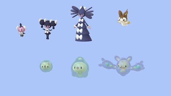 Unova Shinies in Pokémon GO. Credit: Niantic