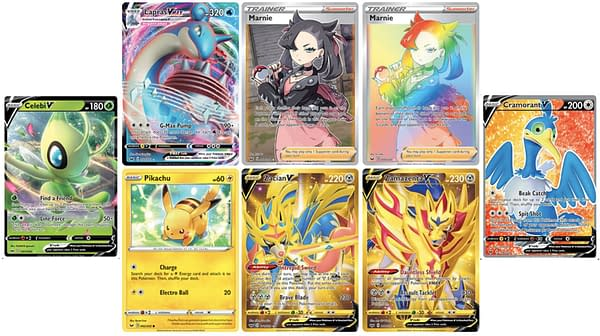 The cards for the Sword & Shield expansion.  Credit: Pokémon TCG
