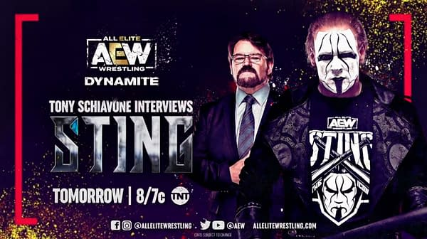 Tony Schiavone will interview Sting again on AEW Dynamite this week